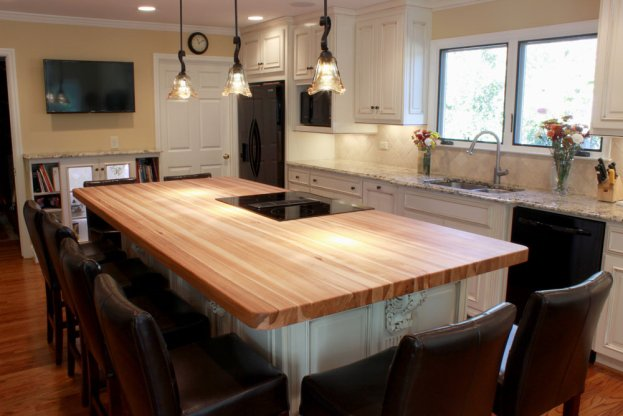 Hickory End Grain San Diego - The Countertop Company